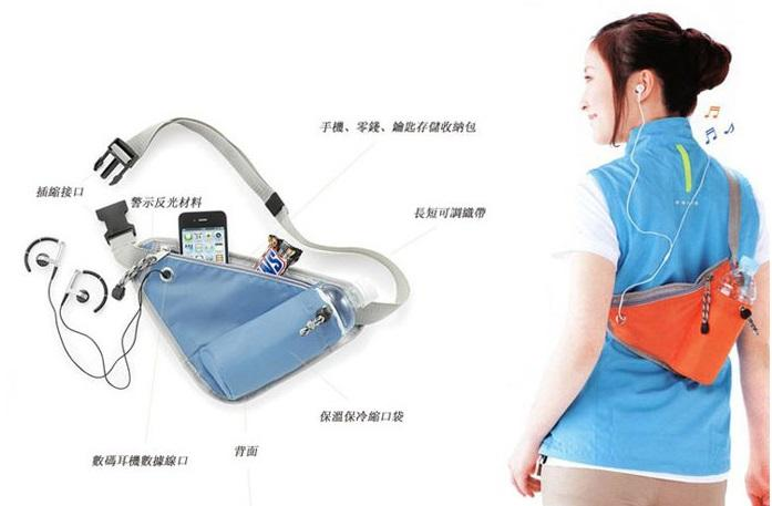 Multipurpose Sport Storage Pouch Outdoor Pockets Shoulder Bag