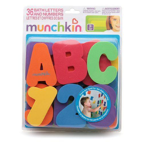 how to clean munchkin bath letters