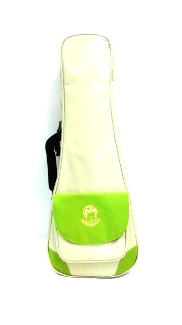 Mushroom Design Ukulele Thick Padded Bag Concert Size White & Green