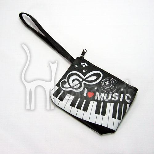 Music Piano Keyboard I Love Music Coin Purse