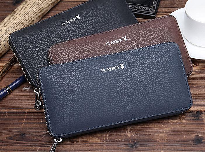 MW14 KOREAN Style Men High Quality Long Leather  Wallet