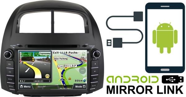MYVI 2005 - 2010 DLAA 8' Android Mirror Link Double Din GPS DVD Player