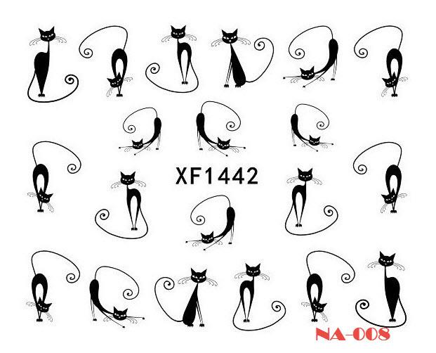 NA-007 Cat (2) Water Decal Nail Art Stickers ( DIY)