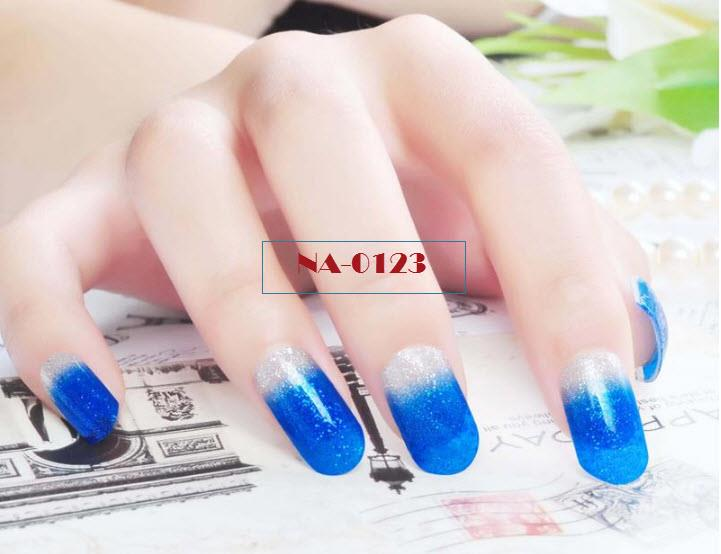 NA-0123 Colourful (7) Glitter Water Decal Nail Art Stickers ( DIY)