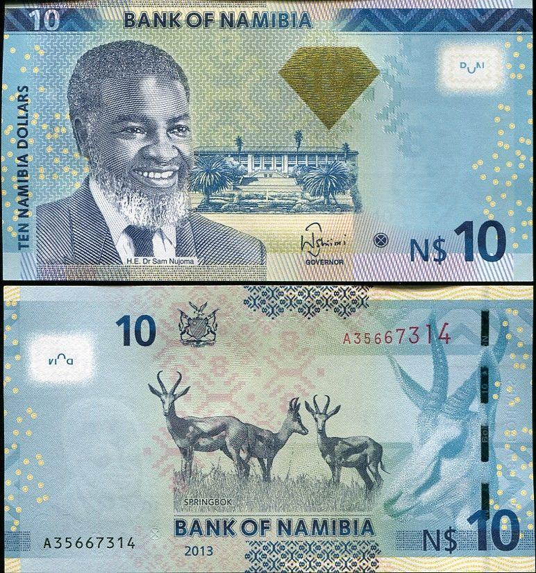 Namibia 2013 10 dollars p new unc