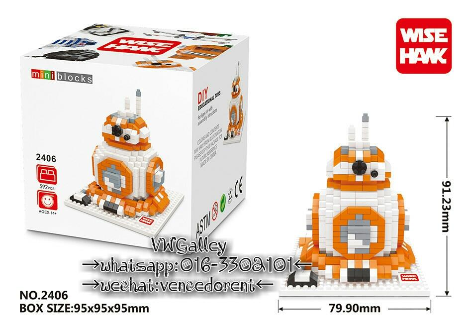 Nano Block WISEHANK 2406 BB-8 592+-Pcs
