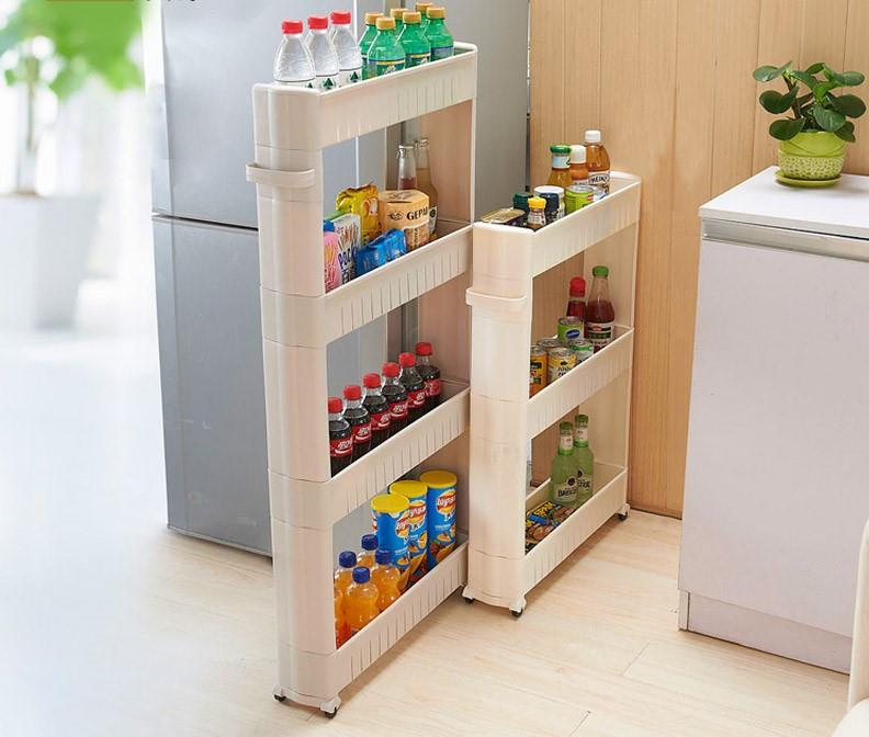 narrow rolling pantry shelving kitchen storage cabinet with handle