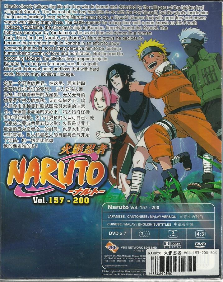 NARUTO (BOX 4) - ANIME TV SERIES DVD BOX SET (157-200 EPIS)