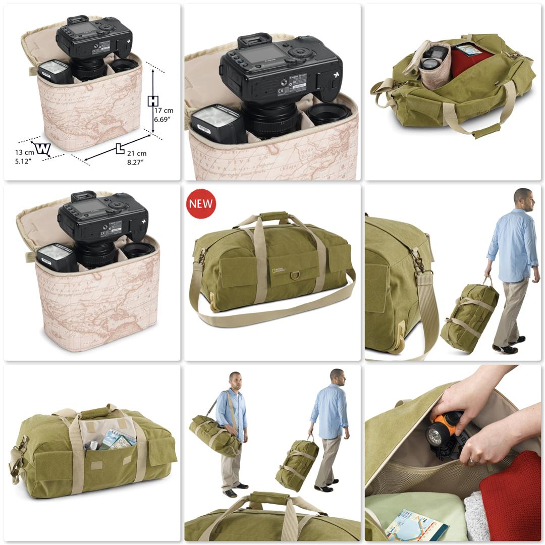 National Geographic NG 6130 Earth Explorer Trolley Duffel Wheels Bag