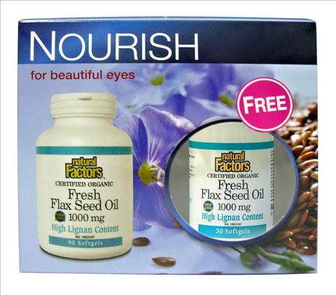 Natural Factors Fresh Flex Seed Oil 1000mg (90's+30's)