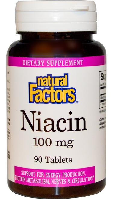 Natural Factors, Niacin, 100 mg, 90 Tab (Chepeast and Import from USA)
