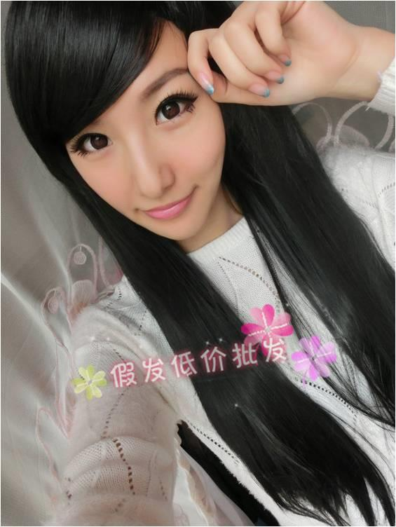 Natural Straight Hair Wig*ready stock 11-rambut palsu/promotion deal