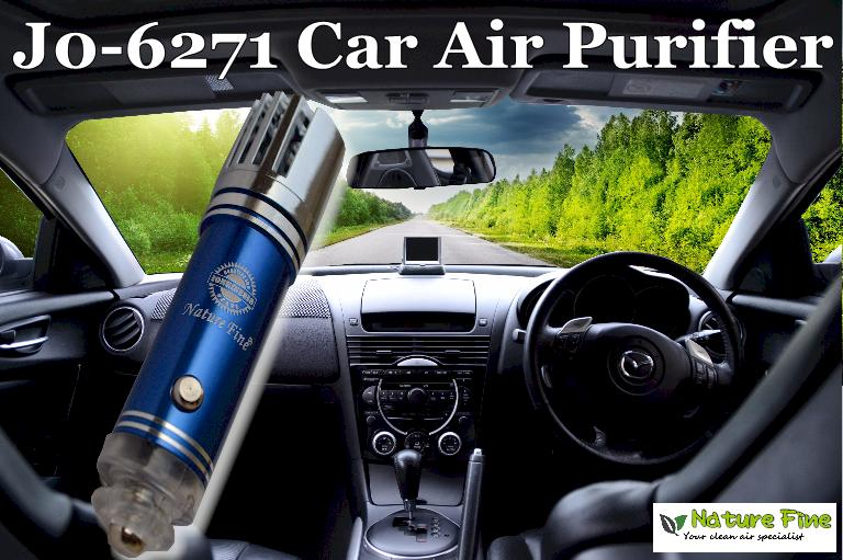 *NEW* Nature Fine� J0-6271 Car Air Purifier & Ionizer (BLUE)