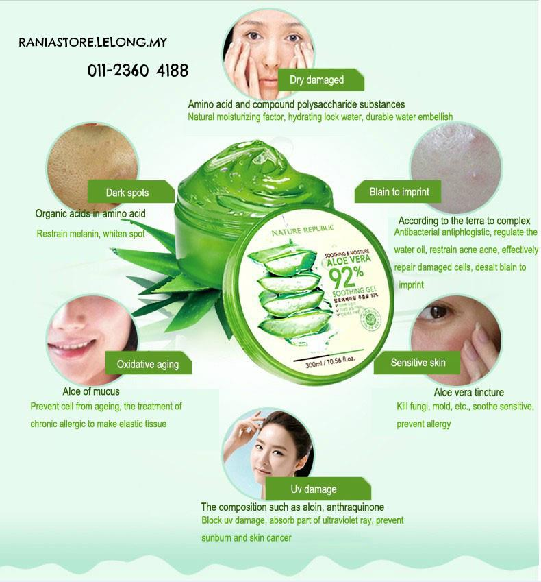 Nature Republic Moisture Aloe Vera 92% Soothing Gel 300ml (Real) EXO