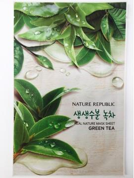Nature Republic- Real Nature Mask Sheet Facial Mask - Green Tea