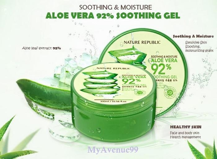 how to use nature republic aloe vera soothing gel