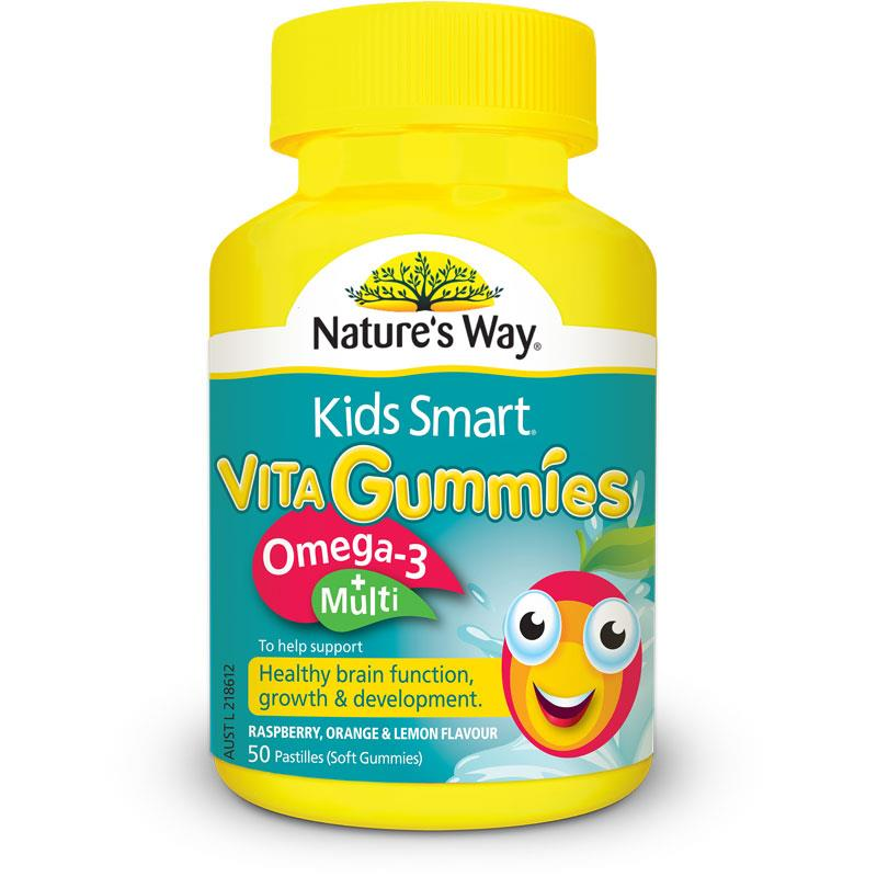 Nature's way Kids Smart Vitamin Gummies-Omega 3 +Multi