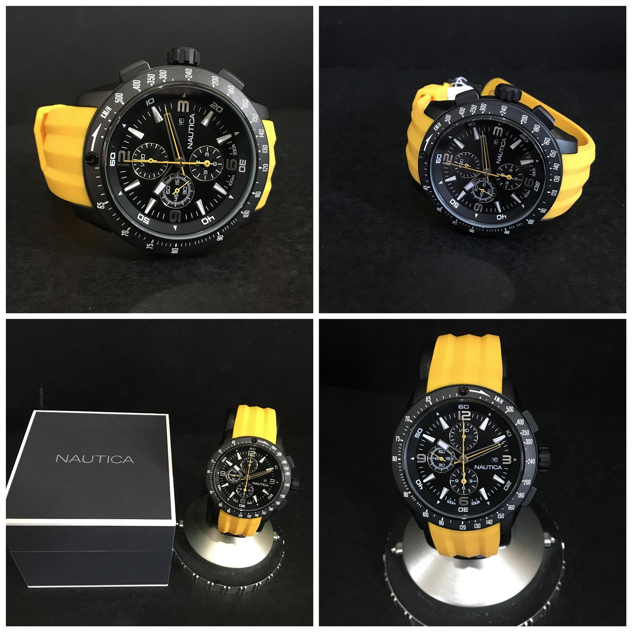 Nautica Professional Chronograph 47mm Yellow Strap