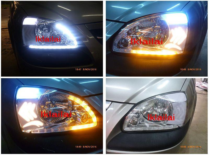 Naza Citra Head Lamp 2-Function DRL R8 with Arrow Bar