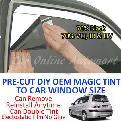 Naza Citra Magic Tinted Solar Window ( 6 Windows ) 70% Black
