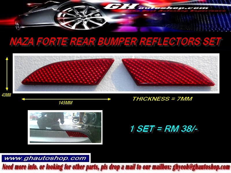 NAZA FORTE SPORTY REAR BUMPER REFLECTORS SET