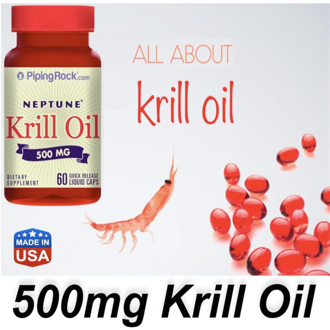 Nepture Krill Oil 500mg, 60 Liquid Caps, Heart, Cholesterol Health