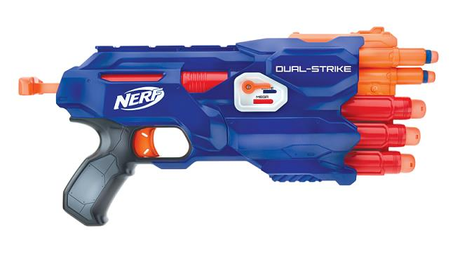 NERF Dual Strike Blaster. N-Strike Elite. Hasbro B4619. OFFER.!!!