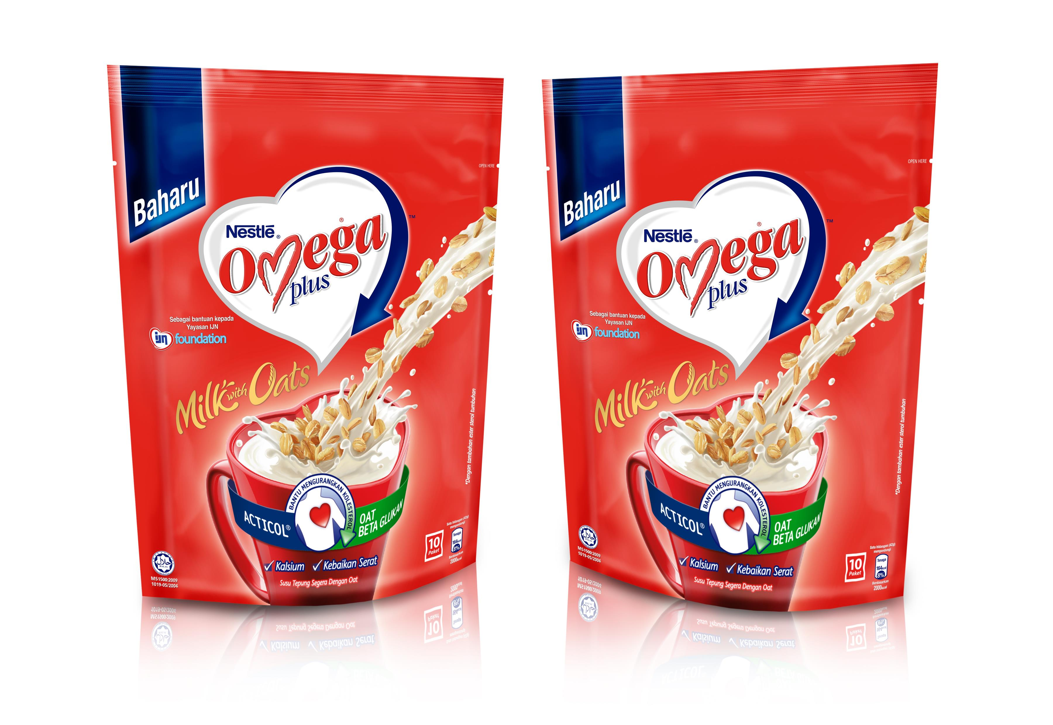 NESTLE OMEGA PLUS MILK With Oats (10x42g)