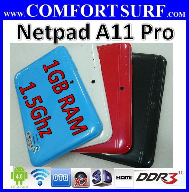Netpad A11 Pro 1GB RAM ANDROID 4.0.4 Allwinner A10 Tablet PC Novo7