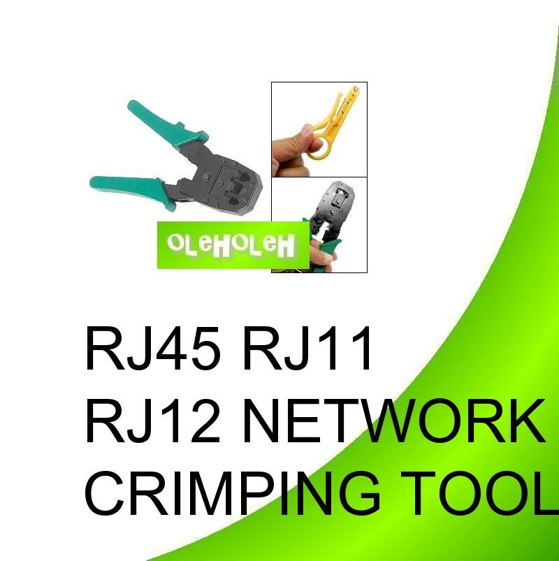 Network Cable Crimping Tool & Wire Stripping Plier  RJ45 RJ11 RJ12