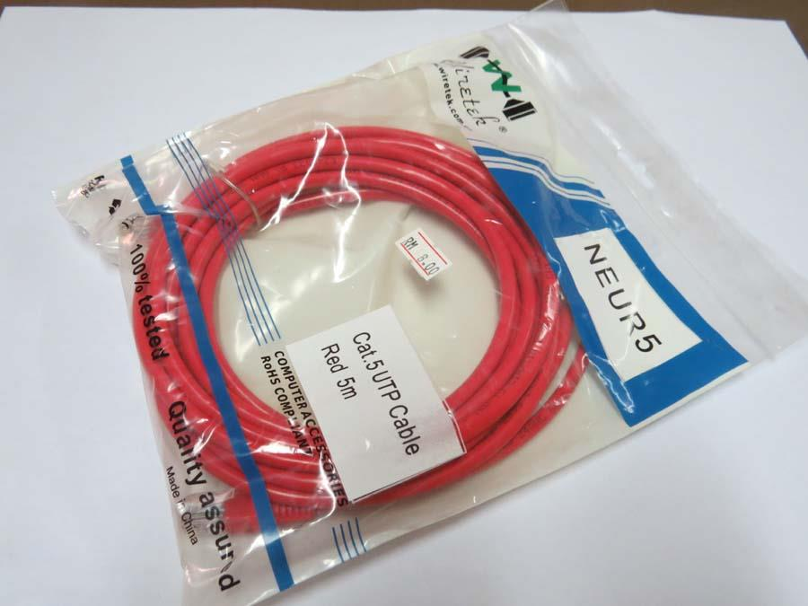 Network Cable UTP 5e ( 5 Metre / Meter )