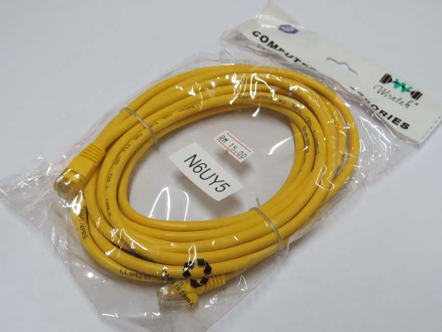Network Cable UTP Cat 6 (5 Metre / Meter)