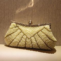 NEWEST-EUROPEAN FASHION PEARL CLUTCH EVENING CASUAL HANDBAG FOR SALES