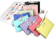 NEWEST KOREAN FASHION LOVELY SHORT CARD PACKAGE WALLET FOR SALES