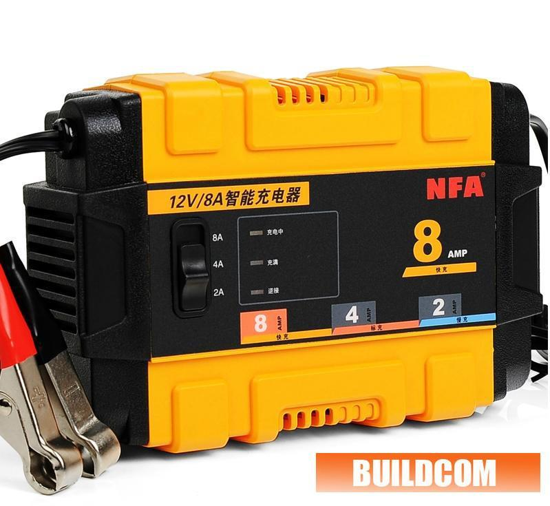 NFA Smart Car & Motorcycle Battery Charger 12V 8A
