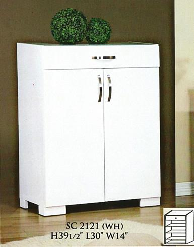 NiceHome Furniture CHEAPEST SHOE CABINET WITH DRAWER & GLASS- SC2121