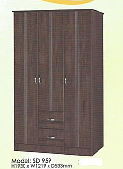 NiceHome Furniture HOT Seller 3DOOR Wardrobe model-SD 959