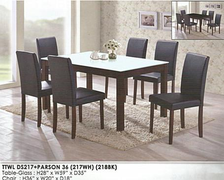NiceHome furniture mega sale dining table set model - ds217 (1+6)