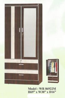 NiceHome LIMITED OFFER Wardrobe with mirror model - WR86922M