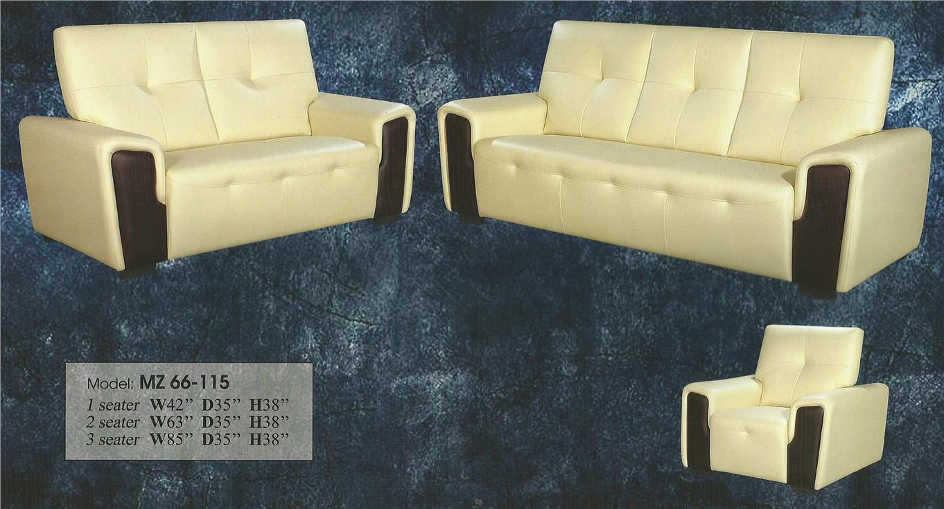 NiceHome Set Preminum 1+2+3 sofa set model - MZ66-115 CASA LEATHER