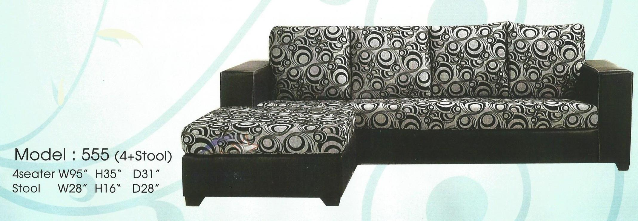 NiceHome Set Preminum L-shape sofa model - 555