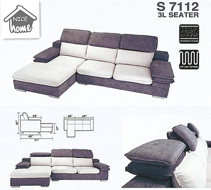 nicehome special offer price sofa 3-L-shape model-S7112