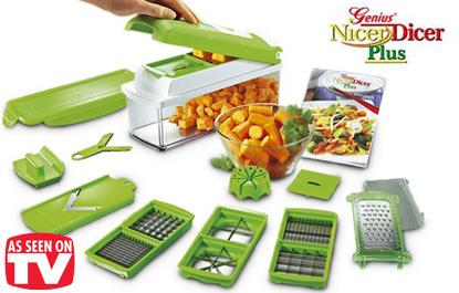 Nicer Dicer Plus Vegetable/Fruits Multipurpose Chopper Cutter Slicer