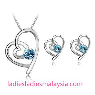 Nickel Free Austrian Crystal Cupid Heart Jewellery Sets