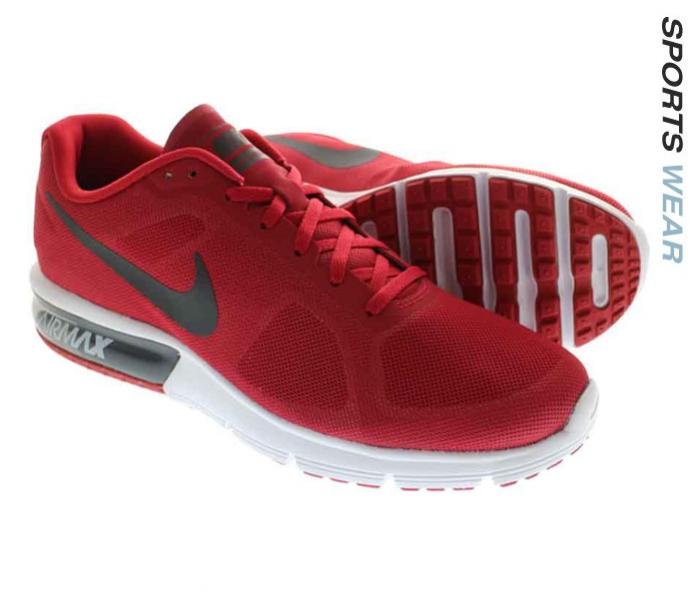 Nike Air Max Sequent Running Shoe - Gym Red -719912-601