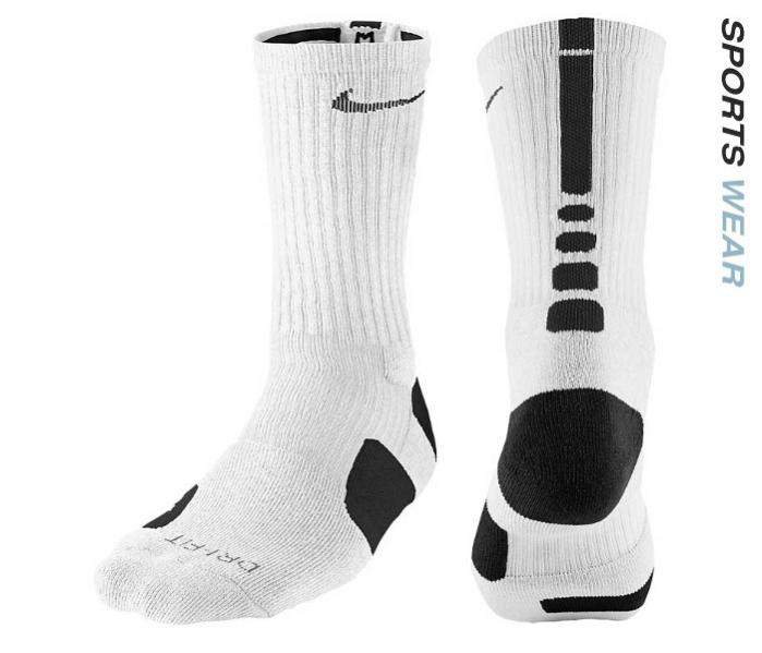 Nike Dri-Fit Elite Basketball Crew Socks - White/Black -SX3692-107
