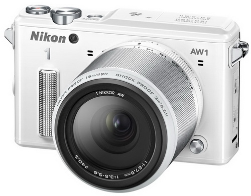 NIKON 1 AW1(WHITE) Kit 11-27.5mm Lens(Free 8Gb + Case)- Free Shipping!