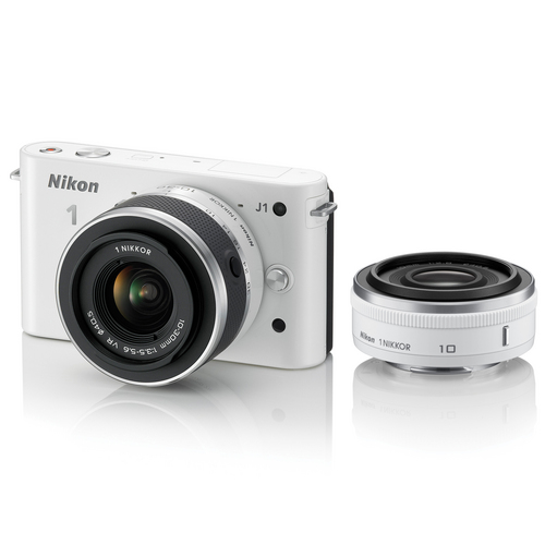 NIKON 1 J1 With 10mm + 10-30mm Kit - White - Free Shipping!!!
