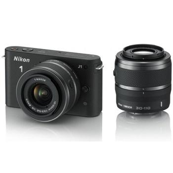 Nikon 1 J1 body with 10-30mm,30-110mm kit(Black)(Free Shipping)