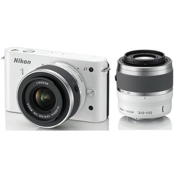 Nikon 1 J1 Body with 10-30mm,30-110mm Lens Kit(White)(Free Shipping)